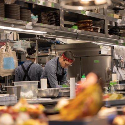 Kumo's chefs working hard