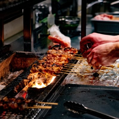 Yakitori - cooked over a flame and on your plate in no time.