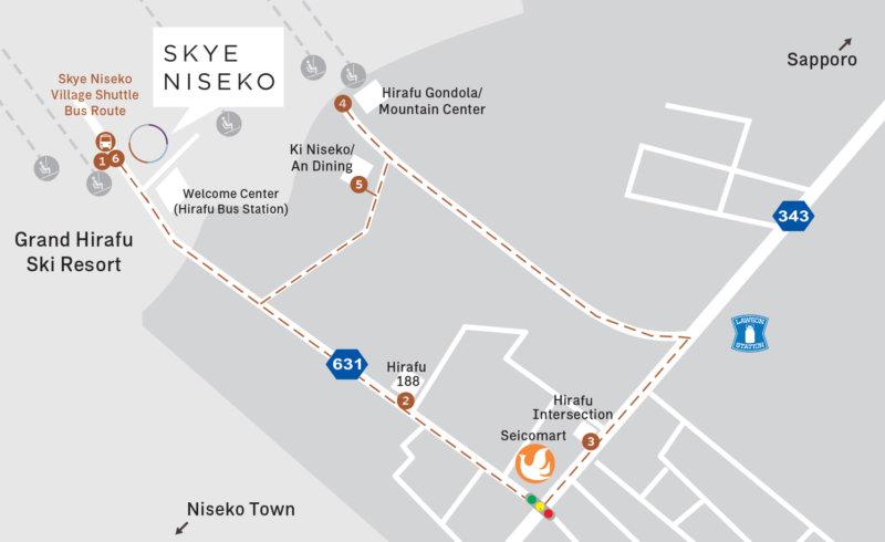 Skye Niseko Map En