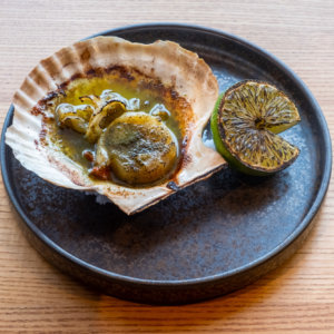 Scallops In The Shell With Seaweed Butter