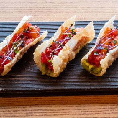 Mini Tacos With Seafood Tartare