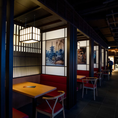 Grab yourself a cozy and intimate booth at Kumo Restaurant.