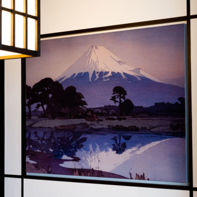 Take in Japanese art on one side, and Mt Yotei views on the other.